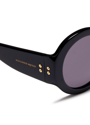 Detail View - Click To Enlarge - Alexander McQueen - Round acetate thick rim sunglasses