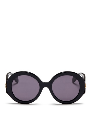 Main View - Click To Enlarge - Alexander McQueen - Round acetate thick rim sunglasses