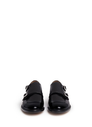 Front View - Click To Enlarge - CHURCH'S - 'Lora' bookbinder leather double monk strap shoes