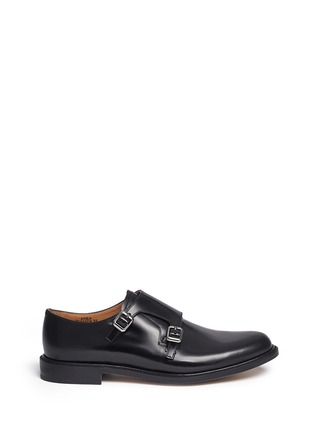 Main View - Click To Enlarge - CHURCH'S - 'Lora' bookbinder leather double monk strap shoes