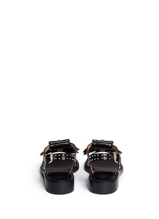 Back View - Click To Enlarge - Church ' S - Stud kiltie fringe calfskin leather sandals