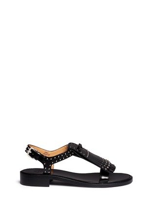 Main View - Click To Enlarge - Church ' S - Stud kiltie fringe calfskin leather sandals