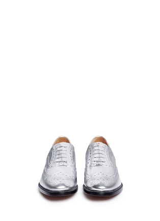Front View - Click To Enlarge - Church ' S - 'Burwood W 6' mirror leather brogue oxfords