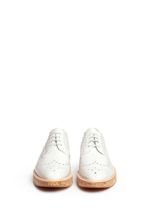 Front View - Click To Enlarge - Church ' S - 'Keely' cork sole patent leather brogue derbies