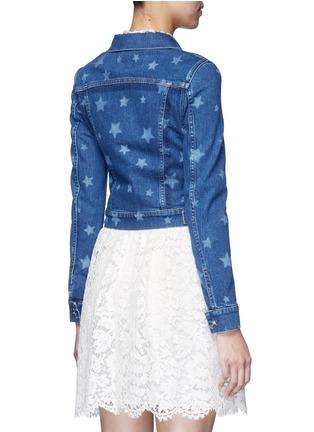 Back View - Click To Enlarge - VALENTINO - Star print denim jacket