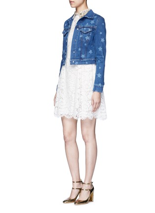 Figure View - Click To Enlarge - VALENTINO - Star print denim jacket