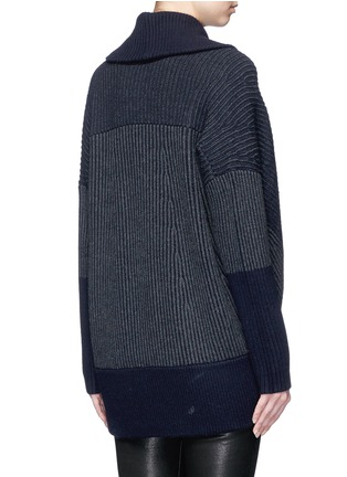 Back View - Click To Enlarge - Vince - Wool-cashmere circle cardigan