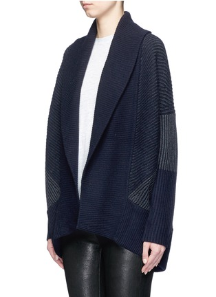 Front View - Click To Enlarge - Vince - Wool-cashmere circle cardigan