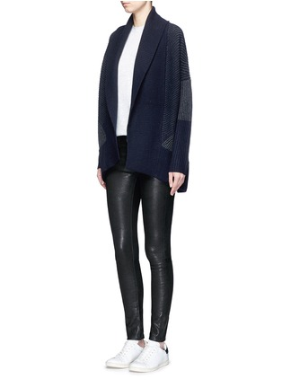 Figure View - Click To Enlarge - Vince - Wool-cashmere circle cardigan