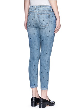 Back View - Click To Enlarge - CURRENT/ELLIOTT - 'The Stiletto' star print skinny jeans