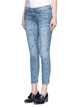 Front View - Click To Enlarge - CURRENT/ELLIOTT - 'The Stiletto' star print skinny jeans