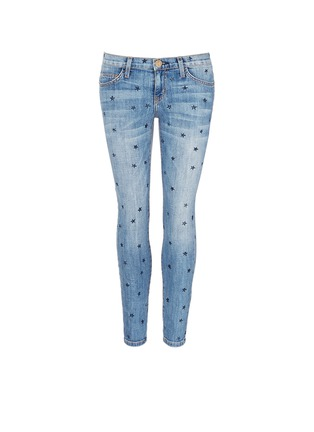 Main View - Click To Enlarge - Current/Elliott - 'The Stiletto' star print skinny jeans