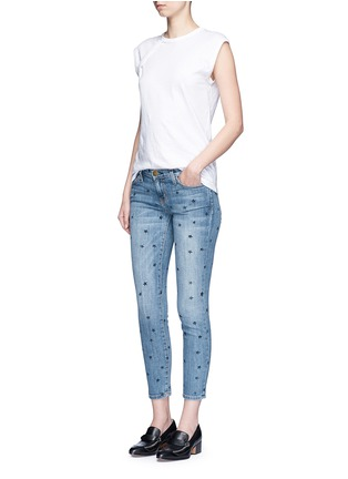 Figure View - Click To Enlarge - Current/Elliott - 'The Stiletto' star print skinny jeans