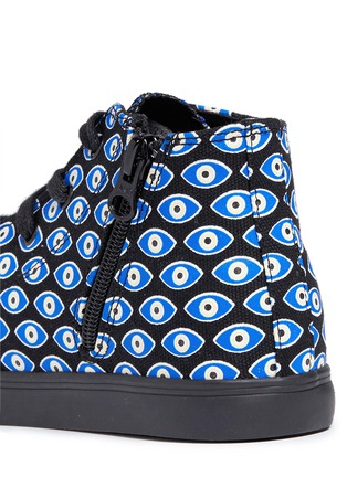 Detail View - Click To Enlarge - AKID - Anthony Hi' evil eye print canvas kids sneakers