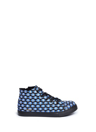 Main View - Click To Enlarge - AKID - Anthony Hi' evil eye print canvas kids sneakers