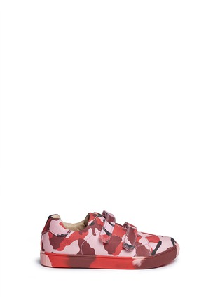 Main View - Click To Enlarge - AKID - 'Axel' camouflage print canvas kids sneakers