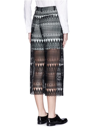 Back View - Click To Enlarge - self-portrait - Teardrop guipure lace culottes