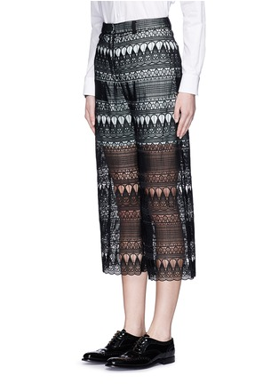 Front View - Click To Enlarge - self-portrait - Teardrop guipure lace culottes