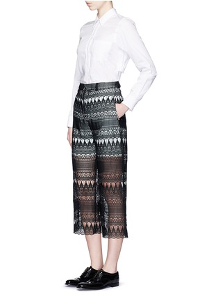 Figure View - Click To Enlarge - self-portrait - Teardrop guipure lace culottes