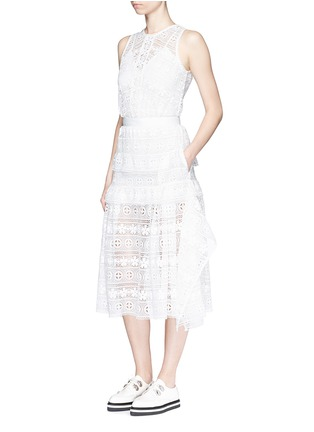 Figure View - Click To Enlarge - self-portrait - 'Spring Symphony' guipure lace dress