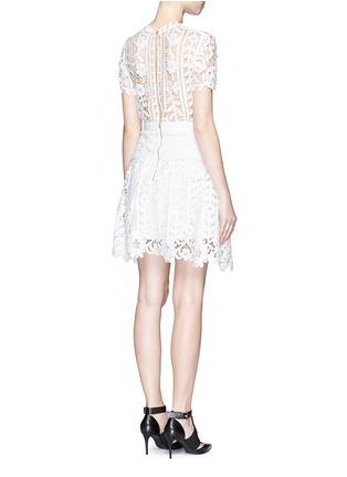 Back View - Click To Enlarge - self-portrait - Floral satin lace A-line dress