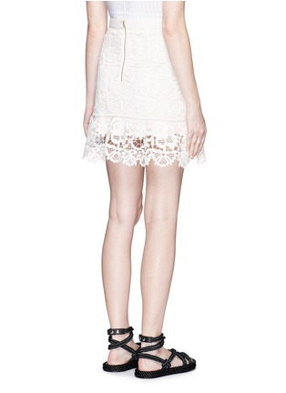 Back View - Click To Enlarge - SELF-PORTRAIT - Geometric floral lace skirt