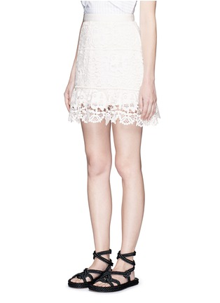 Front View - Click To Enlarge - self-portrait - Geometric floral lace skirt