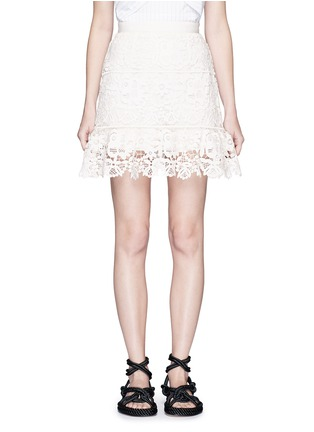 Main View - Click To Enlarge - self-portrait - Geometric floral lace skirt