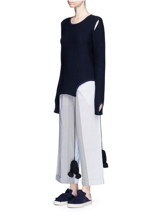 Front View - Click To Enlarge - Ports 1961 - Tassel tie cutout sweater