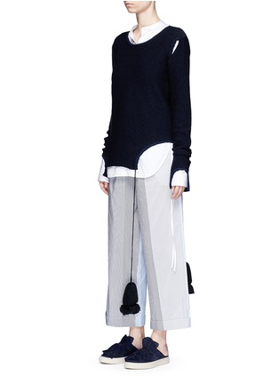 Figure View - Click To Enlarge - Ports 1961 - Tassel tie cutout sweater