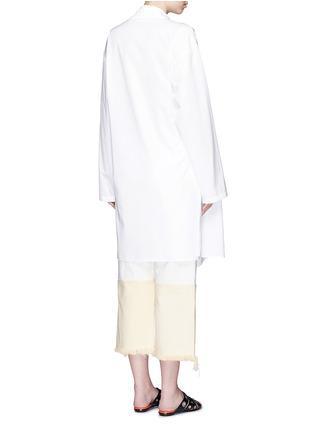 Back View - Click To Enlarge - Ports 1961 - Sash waist cotton poplin coat