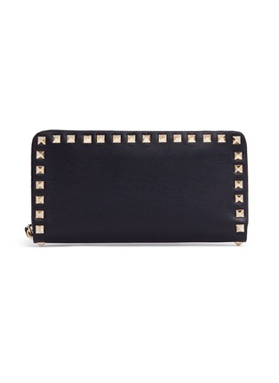 Main View - Click To Enlarge - Valentino - 'Rockstud' leather zip continental wallet