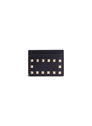 Main View - Click To Enlarge - Valentino - 'Rockstud' leather card case