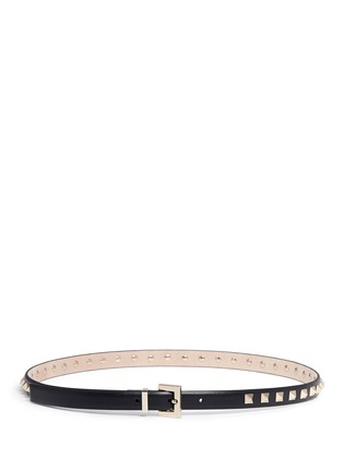 Main View - Click To Enlarge - Valentino - 'Rockstud' leather slim belt