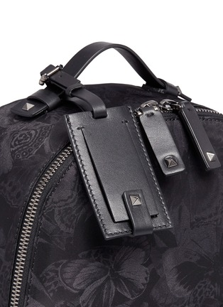 Detail View - Click To Enlarge - Valentino - 'Camubutterfly Noir' nylon backpack