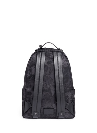 Back View - Click To Enlarge - Valentino - 'Camubutterfly Noir' nylon backpack