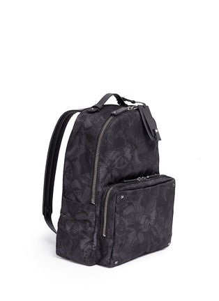 Figure View - Click To Enlarge - Valentino - 'Camubutterfly Noir' nylon backpack