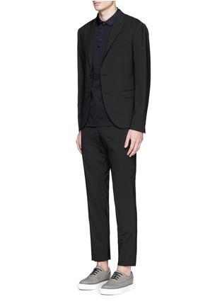 Figure View - Click To Enlarge - Lanvin - Grosgrain collar polo shirt