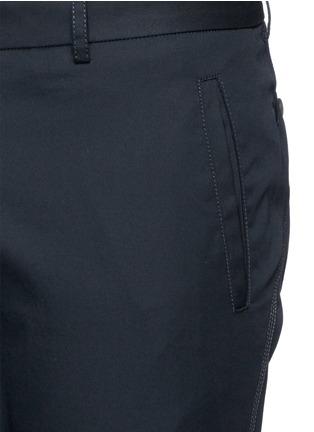 Detail View - Click To Enlarge - Lanvin - Cotton gabardine biker pants