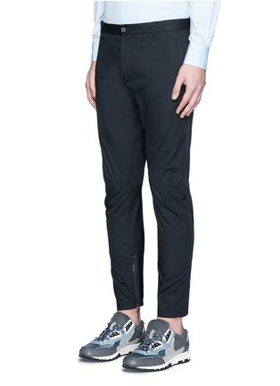 Front View - Click To Enlarge - Lanvin - Cotton gabardine biker pants