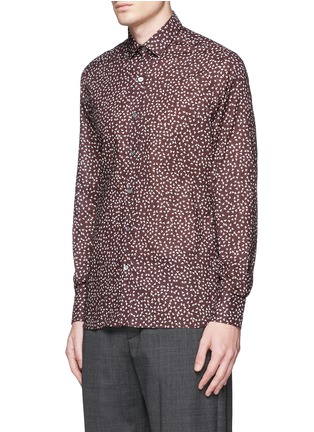 Front View - Click To Enlarge - Lanvin - 'Evolutive' triangle print cotton poplin shirt