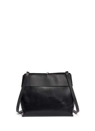 Back View - Click To Enlarge - Kara - Tie top leather crossbody bag