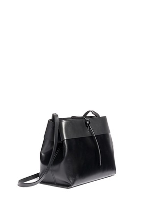 Front View - Click To Enlarge - Kara - Tie top leather crossbody bag