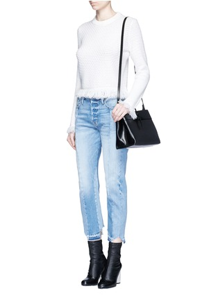 Figure View - Click To Enlarge - Kara - Tie top leather crossbody bag