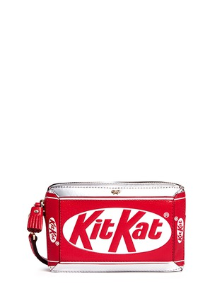 Main View - Click To Enlarge - Anya Hindmarch - 'Kit Kat' mirror leather wristlet