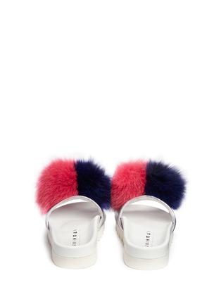 Back View - Click To Enlarge - Joshua Sanders - 'Pon Pon' leather slide sandals