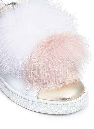 Detail View - Click To Enlarge - Joshua Sanders - 'Pon Pon' leather slip-on sneakers
