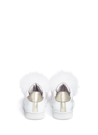 Back View - Click To Enlarge - Joshua Sanders - 'Pon Pon' leather slip-on sneakers