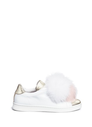 Main View - Click To Enlarge - Joshua Sanders - 'Pon Pon' leather slip-on sneakers