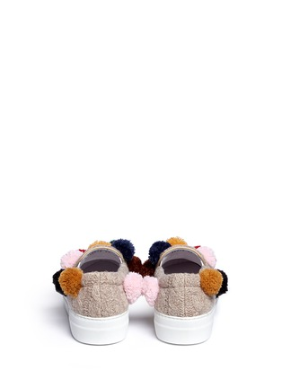 Back View - Click To Enlarge - Joshua Sanders - Pompom cable knit skate slip-ons